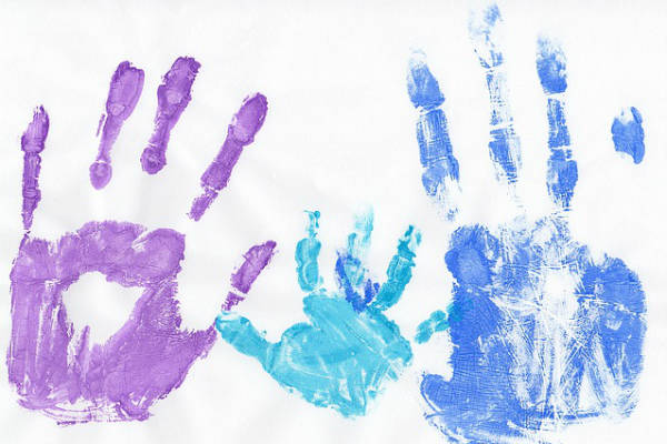 Hand Prints of Family